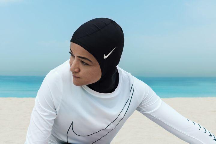 Rostom models the Nike Hijab Pro.