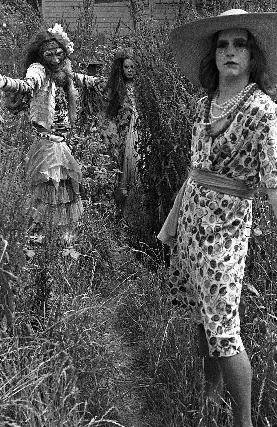 Cockettes Marshall & Prissy, 1971. Photo by Fayette Hauser. Courtesy of Fayette Hauser and Museum of Arts and Design.