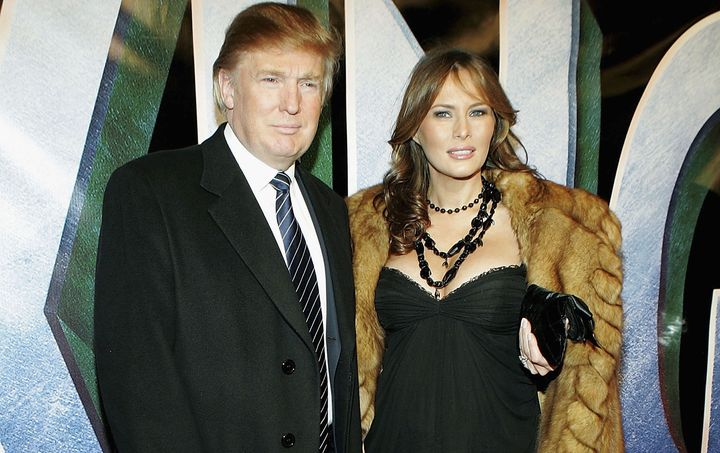 "Donald and Melania Trump at the premiere of ""King Kong"" in 2005."