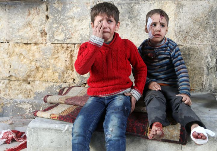Some 5.8 million children in Syria are currently in need of humanitarian aid.