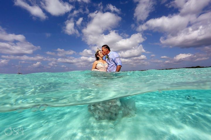 El Cielo is a sandbar off the coast of Cozumel, only accessible by boat.