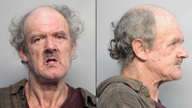 Timothy Merriam, 61, is accused of keying swastikas into five cars.