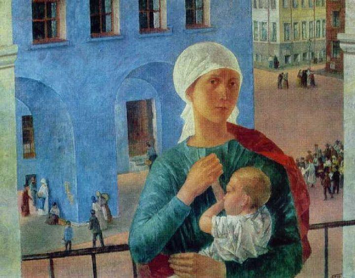 Kuzma Petrov-Vodkin. <em>Petrograd in 1918</em>, 1920 | Tretyakov Gallery, Moscow