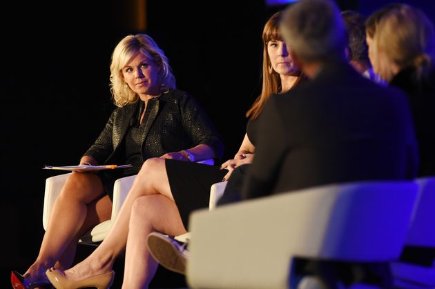 After Gretchen Carlson, left, sued her boss Roger Ailes, she opened the door forother women at...