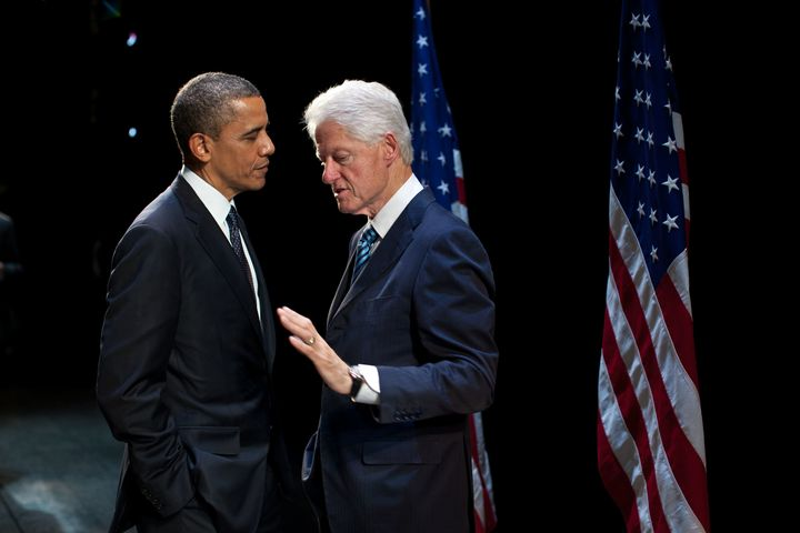 President Clinton counsels President Obama.