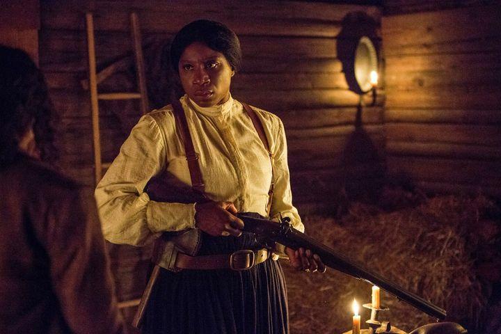 Aisha HInds as Harriet Tubman.