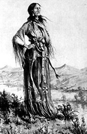 "Sacagawea, guide to Lewis & Clark Expedition 1804-1806 <a rel=""nofollow"" href=""https://www.legendsofamerica.com/"" target=""_bl"