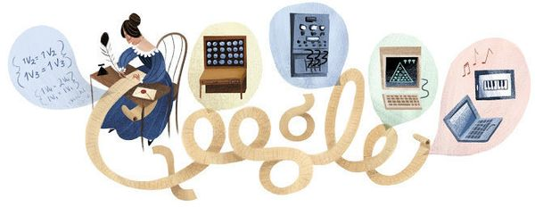 "The mathematician from England <a href=""https://www.google.com/doodles/ada-lovelaces-197th-birthday"" target=""_blank"">pioneere"