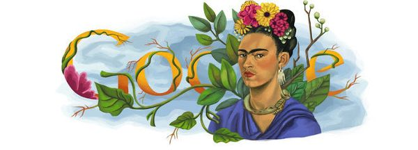 "The <a href=""https://www.google.com/doodles/frida-kahlos-103rd-birthday"" target=""_blank"">Mexican painter and activist</a> did"