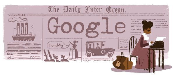 "The <a href=""https://www.google.com/doodles/ida-b-wells-153rd-birthday"" target=""_blank"">American journalist,</a> suffragist a"
