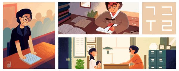 "A <a href=""https://www.google.com/doodles/lee-tai-youngs-101st-birthday"" target=""_blank"">lawyer and activist</a> from Korea w"