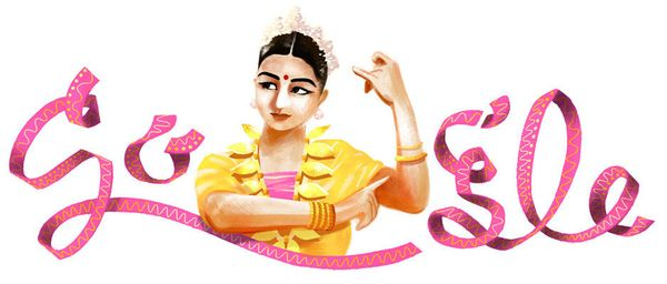 "The <a href=""https://www.google.com/doodles/rukmini-devis-112th-birthday"" target=""_blank"">Indian dancer and choreographer</a>"