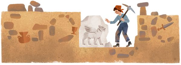 "The <a href=""https://www.google.com/doodles/halet-cambels-99th-birthday"" target=""_blank"">Turkish archaeologist</a> who became"