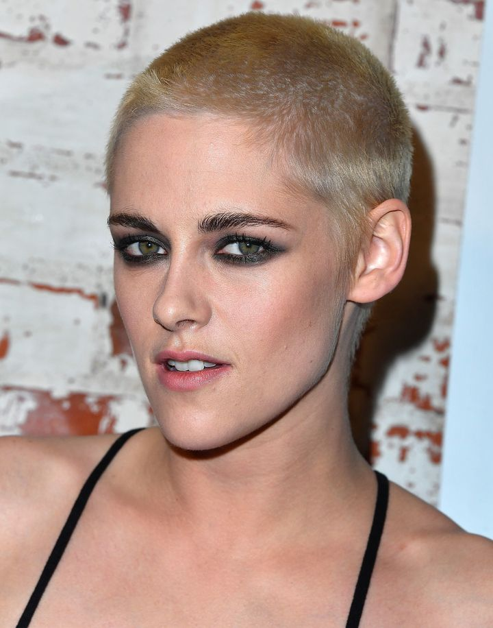 new hair style for hair kristen stewart unveils a radical new hairstyle huffpost 5834
