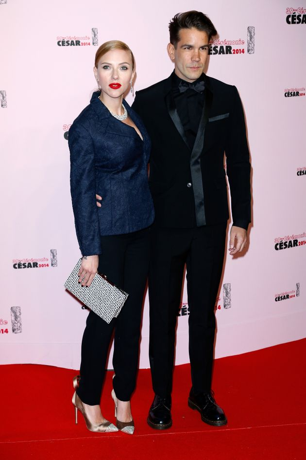 Scarlett and Romain at the Cesar Film Awards in