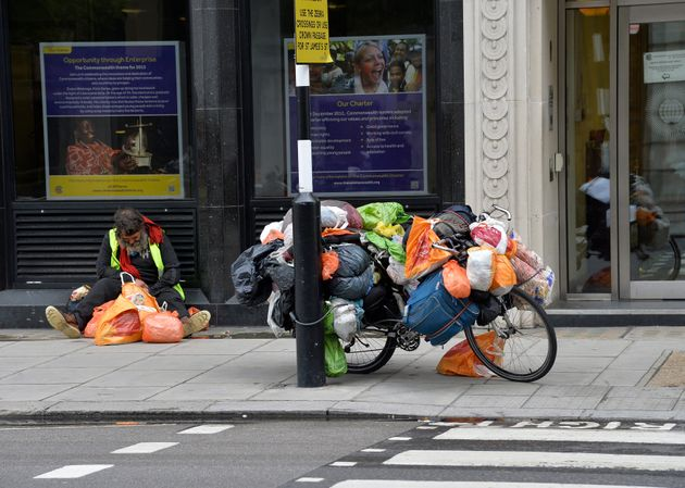 Around 8,000 people were seen sleeping rough in London last