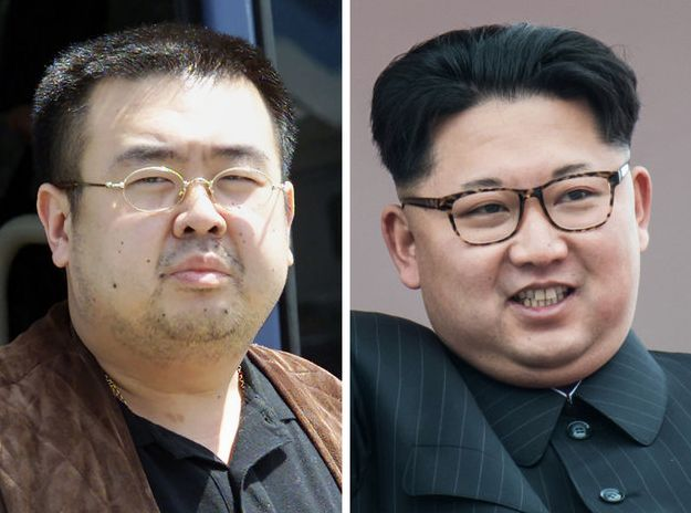 Kim Jong-Nam, left, and Kim