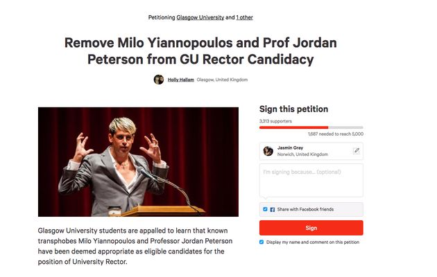More than 3,000 people have signed a petition demanding Yiannopoulos is removed from the