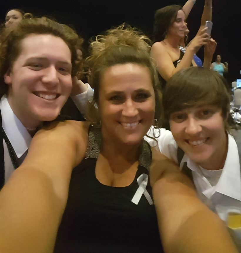 Tieler and his moms Tahmi and Kelley