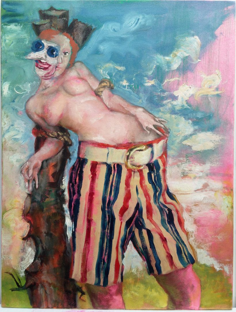 Don Doe, <em>History of America</em> (2014-15), oil on canvas, 24 x 18 inches