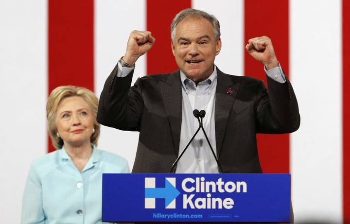 In a statement addressing his son's arrest, Sen. Tim Kaine (D-Va.), Democratic presidential nominee Hillary Clinton's running