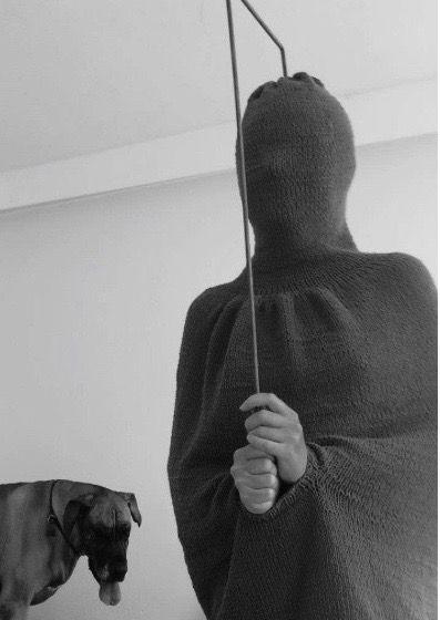 Kirstine Aarkrog, <em>Spasm</em> (2016), wool, 41 x 12 inches