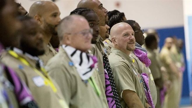 An entrepreneurship class for inmates of the Nebraska State Penitentiary. Nebraska and other states eager to connect ex-offen