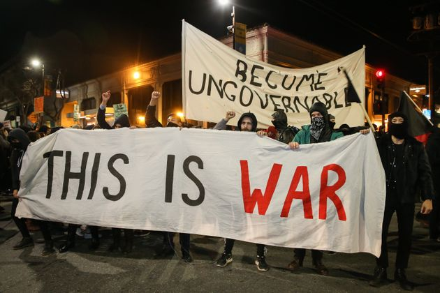 Protests over a speech set to be given by Yiannopoulos at UC Berkeley turned violent last