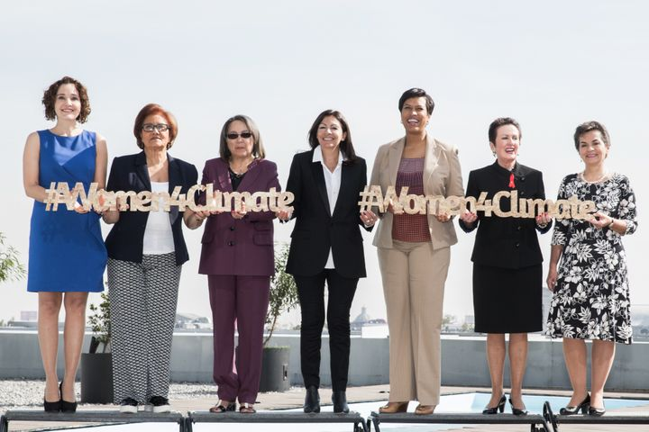 From left to right: CDMX Environment Minister Tanya Müller, Caracas Mayor Helen Fernandez, Cape Town Mayor Patricia de Lille,