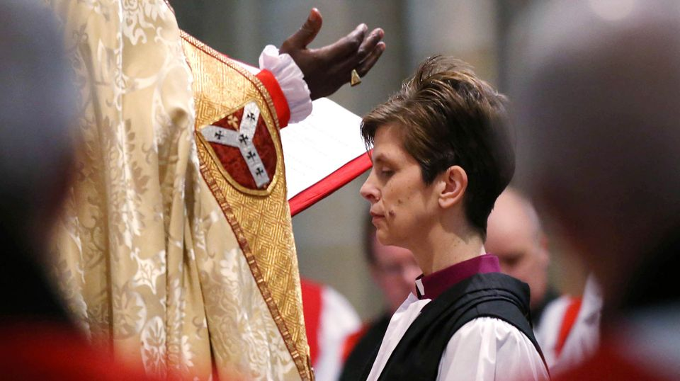 During the Rev. Libby Lane's consecration as Bishop of Stockport in January 2015, a conservative priest interrupted the servi