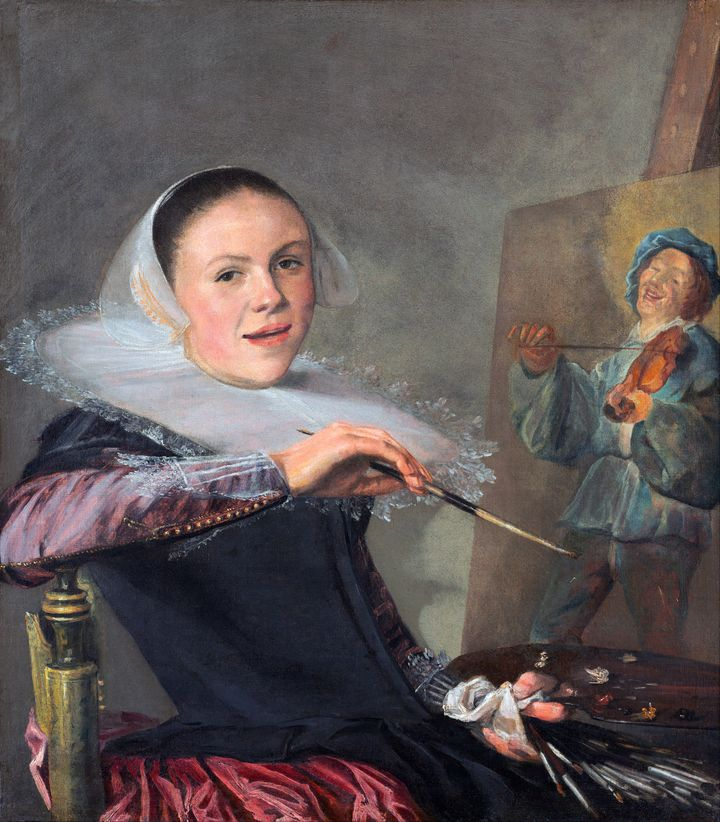 Self-portrait by Judith Leyster.