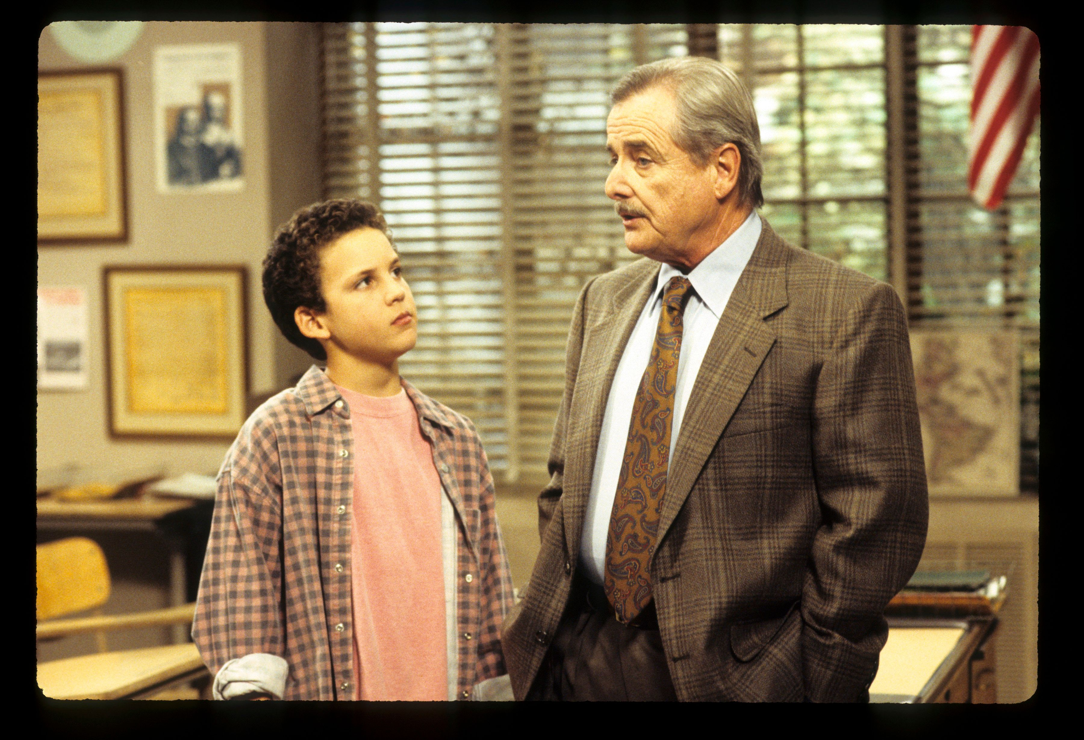"""Ben Savage and William Daniels in a 1993 episode of """"Boy Meets World."""""""