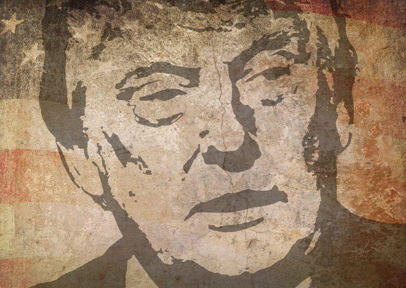 Image: President Donald Trump. Stock Illustration