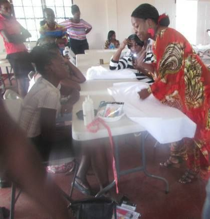 Getrude Matshe running  Grenada Ministry of Culture Women's Co-operatives Fabric Workshop