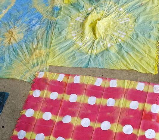 Tye dye and Zimbabwe Sadza Batik