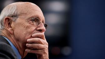 U.S. Supreme Court Justice Stephen Breyer pauses while testifying during a Financial Services and General Government Subcommittee in Washington, D.C., U.S., on Monday, March 23, 2015. Sprinting toward their spring recess, the House and Senate will separately consider budget blueprints, perhaps leading to the first joint congressional budget in six years. Photographer: Pete Marovich/Bloomberg via Getty Images