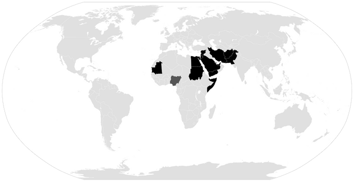 States with death penalty for apostasy