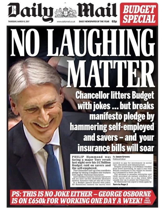Philip Hammond was slammed in the press for the