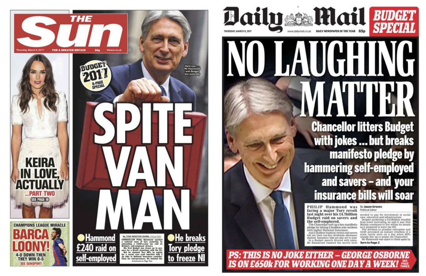 Philip Hammond Has Been Given An Absolute Pasting By The Media - Even The Tory-Friendly