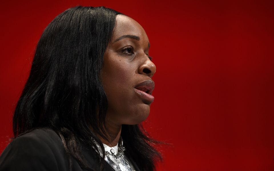 Shadow Secretary of State for International Development Kate Osamor speaks at the Labour Party Conference...