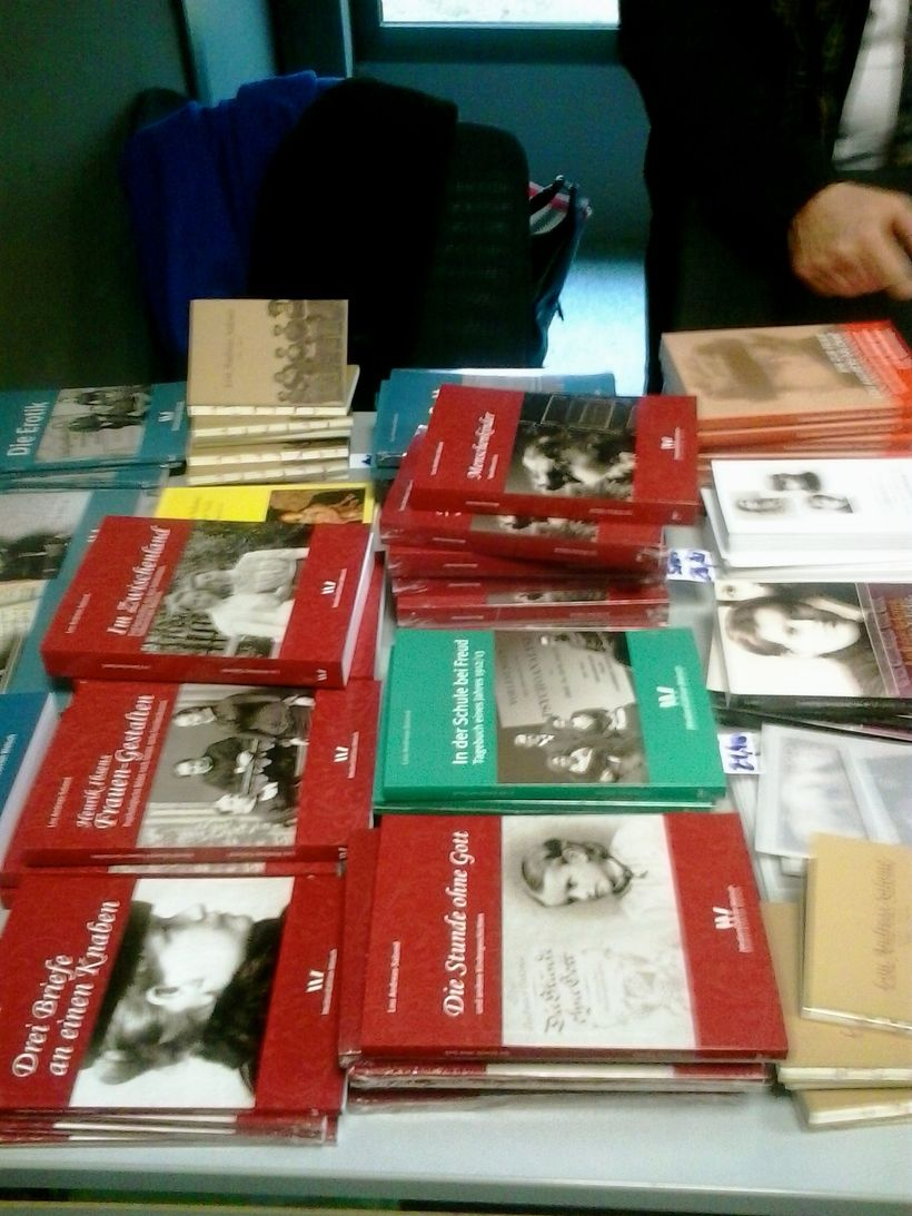The growing trade of Salomé literature, in three languages was in evidence at Strasbourg, courtesy of Ursula Welsch, director