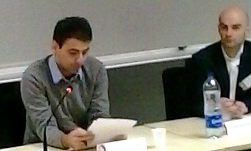 "Amirpasha Tavakoli delivered his French paper ""Nietzsche lu par Lou Andreas-Salomé"" on Saturday morning."