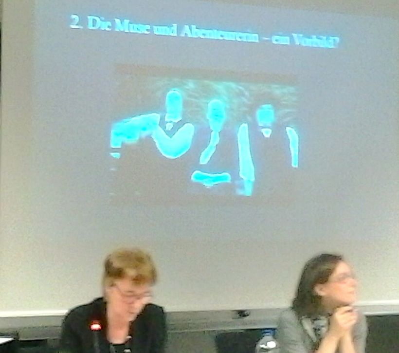 <em>The precursor to Jules et Jim:  before a projection of a still from the new film Lou Andreas-Salomé, Annette Kliewer(lef