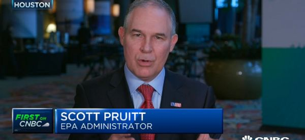 Trump's Environment Chief Denies Carbon Dioxide Causes Global Warming (It Does)
