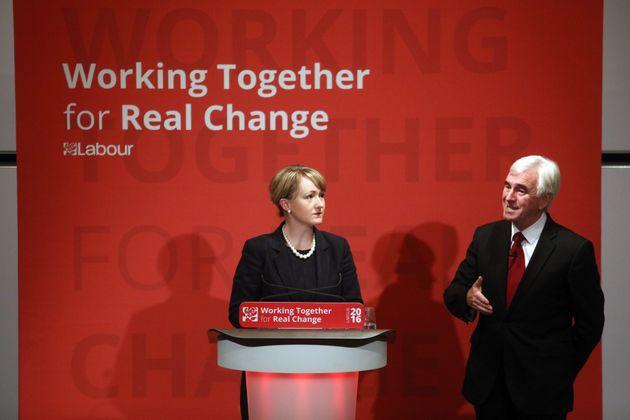 Shadow Business Secretary Rebecca Long-Bailey with John