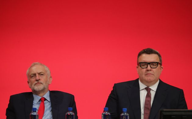 Jeremy Corbyn and Tom Watson at party