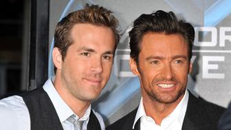 Actors Hugh Jackman and Ryan Reynolds arrive at the premiere of 'X-Men Origins: Wolverine held at Grauman's Chinese Theater.  (Photo by Frank Trapper/Corbis via Getty Images)