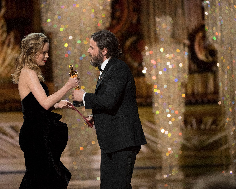 THE OSCARS(r) - The 89th Oscars(r)  broadcasts live on Oscar(r) SUNDAY, FEBRUARY 26, 2017, on the ABC Television Network. (Eddy Chen/ABC via Getty Images) BRIE LARSON, CASEY AFFLECK