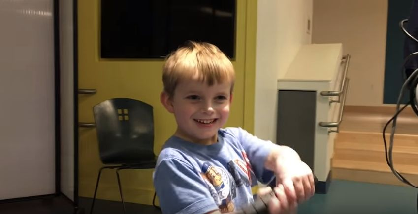 Watch 5-Year-Old Ari Find Out He's Getting A New