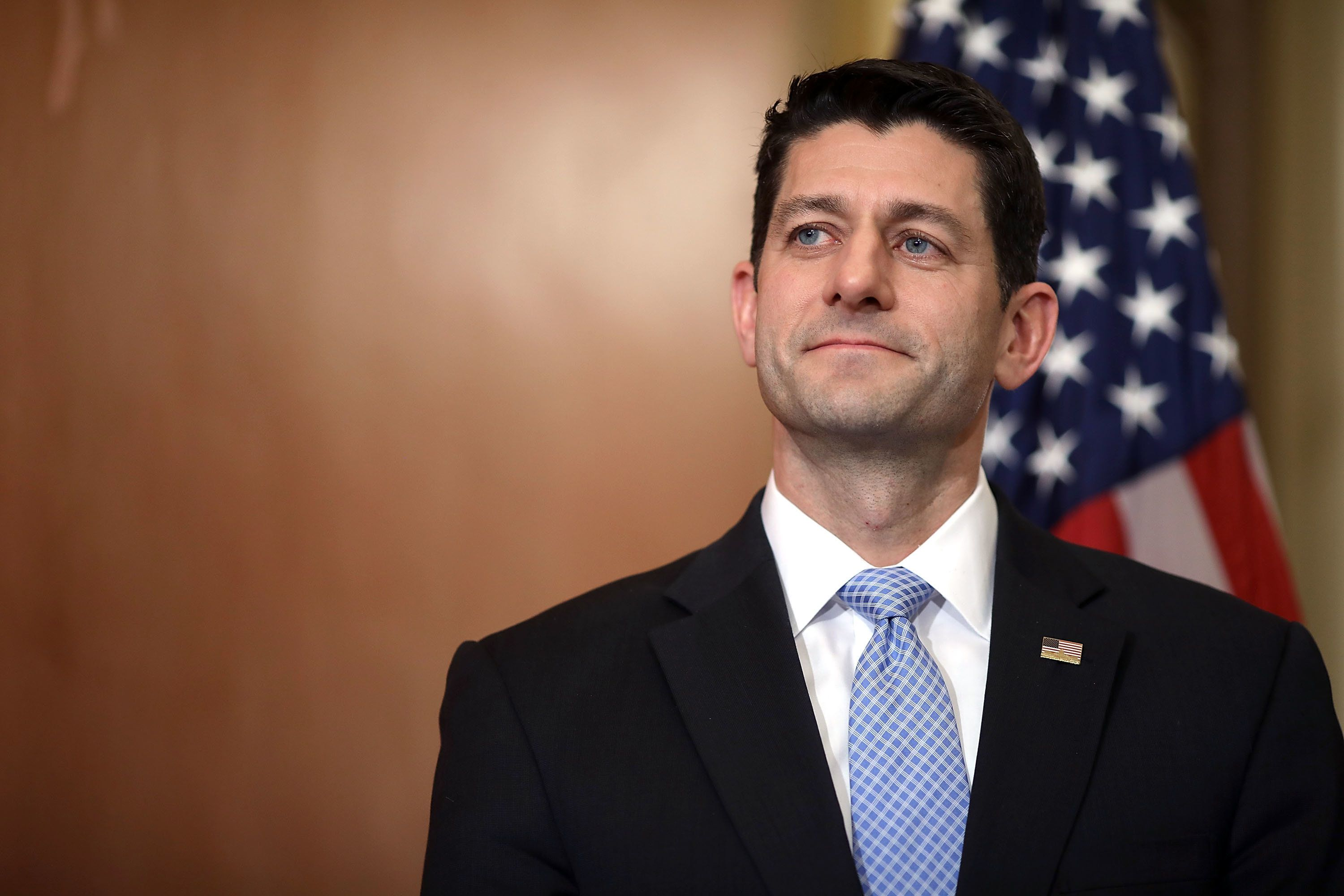 House Speaker Paul Ryan holds a press conference on March 7.